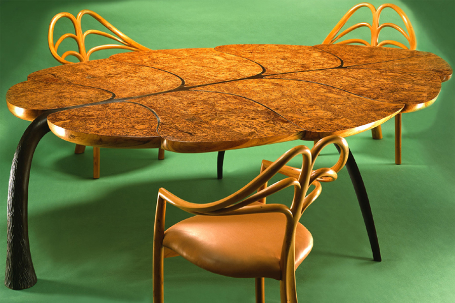 Mulberry and Bronze Table