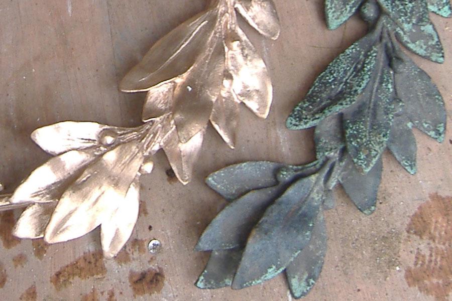 Replicating Bronze Wreaths