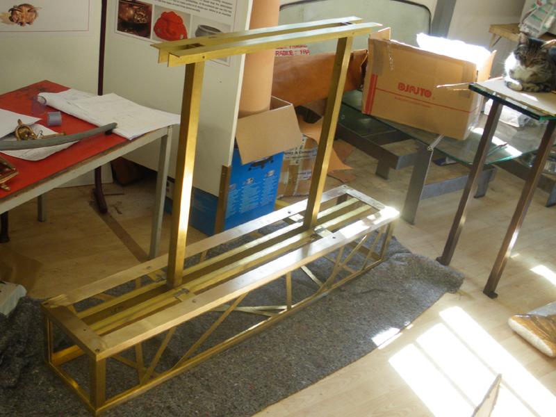 Brass light frame