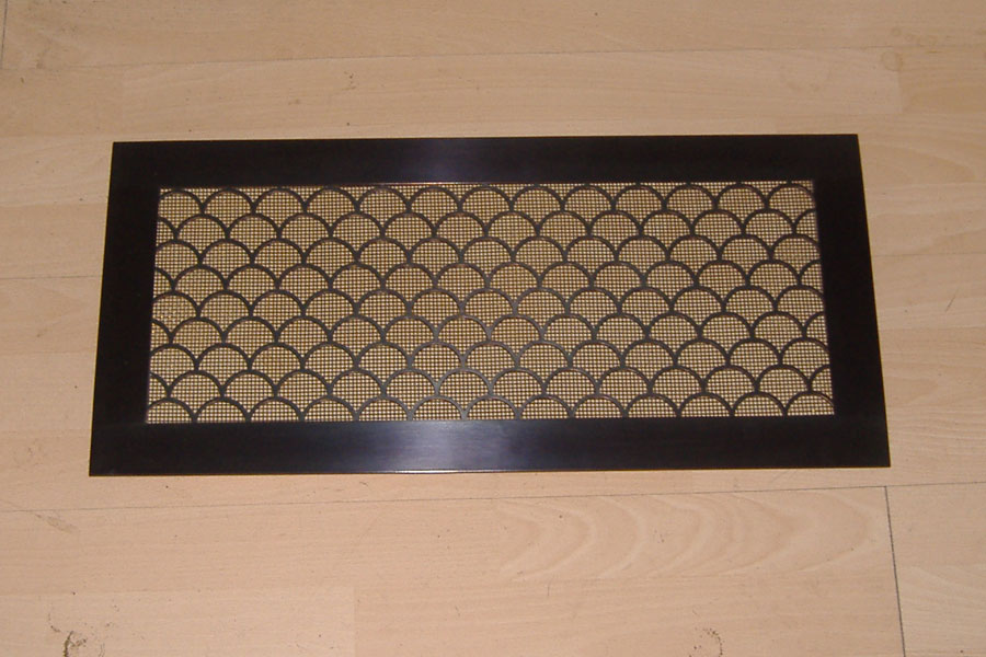Patinated bronze grille