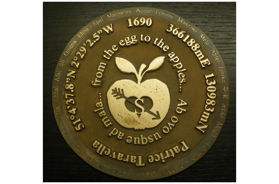 Bronze Plaque for an Apple Orchard