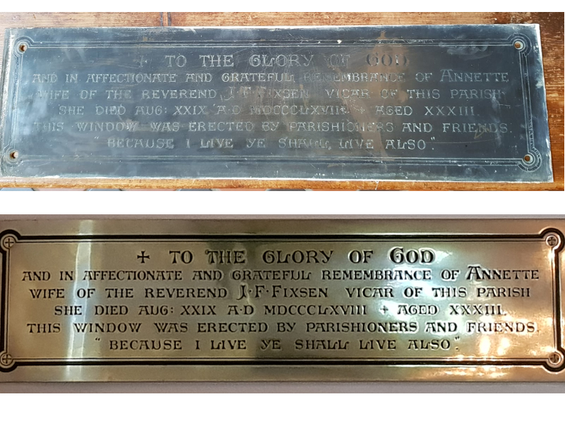 Merton Plaque Brass